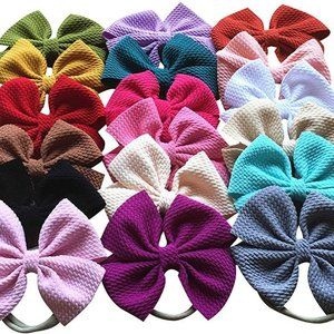 Other - Set of 18 Boutique Headband Bows - Multicolor
